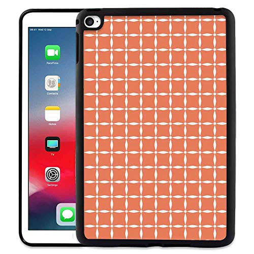 - Pad Case for iPad 6 [2014] & iPad Air 2 (2014) 9.7-Inch Floral Artistic Modern Tile Pattern of Flowers Petals and Dots Geometrical Simplistic Orange White