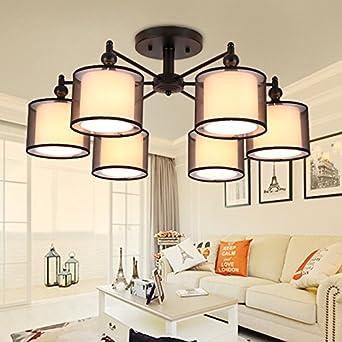JJ moderna lámpara de techo LED las telas de estilo ...
