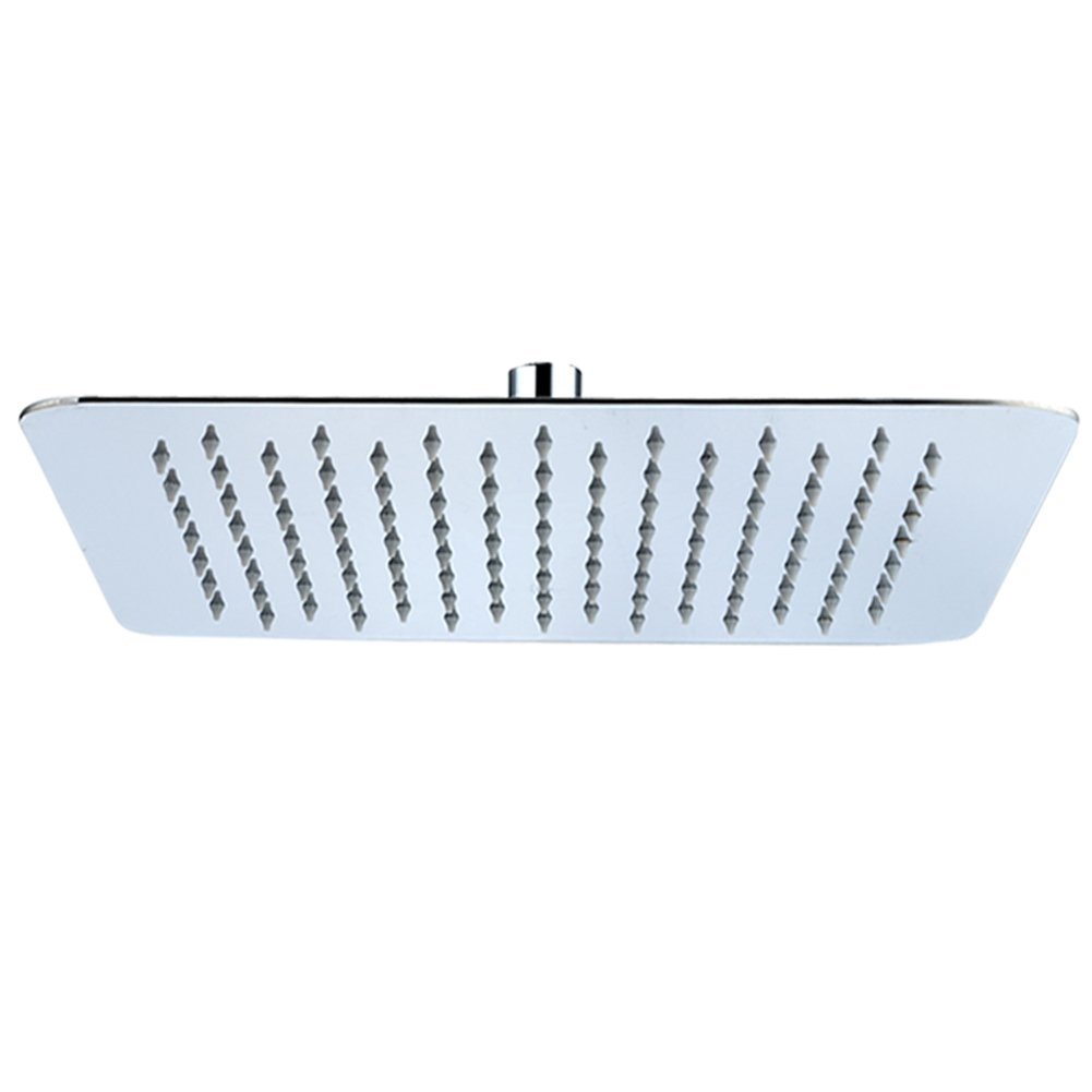 SR SUN RISE 8-inch Luxury Square Rainfall Shower Head Wall Mount ...