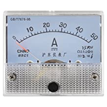 uxcell® Screw Mounted Class 2.5 Accuracy DC 50A Analog Ammeter Panel Meter