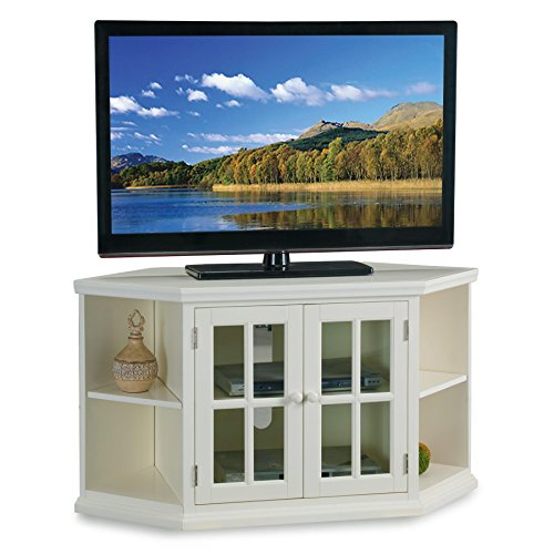 46 in. Corner TV Stand with Bookcases ()
