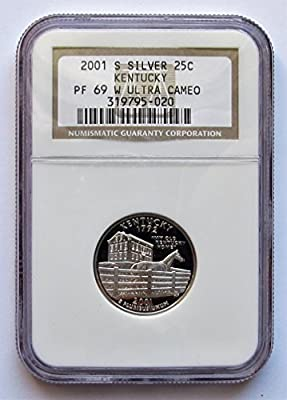 2001 S Kentucky Silver State Quarter PF69 NGC