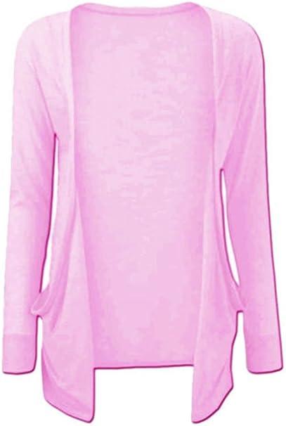 GirlsWalk Kids Girls Long Sleeves Plain Boyfriend Cardigan Top Charcoal