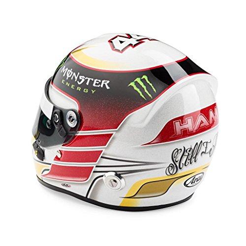 F1 MINI HELMET 1/2 CASQUE LEWIS HAMILTON MERCEDES W05 WORLD CHAMPION