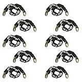 (10 Pack) Guard Security 968 Heavy Duty Hardened Steel Square Link Bike Chain