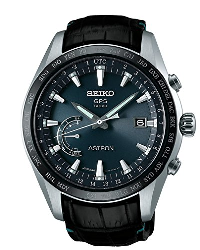 Seiko SSE115J1 Mens ASTRON GPS Solar World Time Watch w/ Date