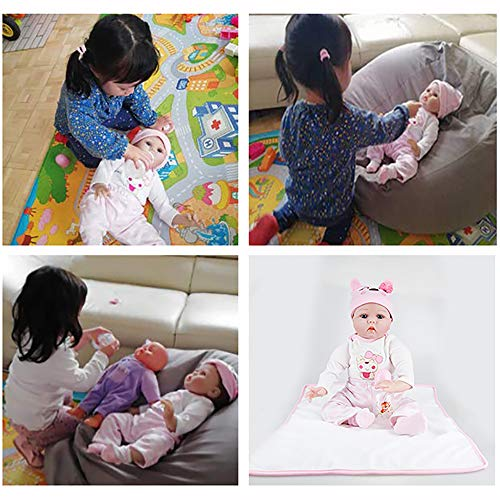 AFYH Simulation Doll Reborn Baby,Simulation Children's Doll - Rebirth Doll - Realistic Baby Companion - Colección de arte 55cm - Dé a su hijo un precioso Regalo. by AFYH (Image #5)
