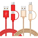 2 in 1 Charging Cable For Motorola Moto Z Z2 Play Droid Force Edition Turbo X4 M Sony Xperia XA1 XA2 XZ2 XZ1 XZ XZS X XA Z5 Z3 Z M4 C4 Compact Premium Ultra Plus L1 L2 Micro Usb Type C Charger Cord 1M