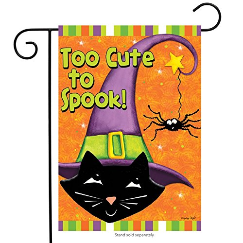 Briarwood Lane Too Cute to Spook Halloween Garden Flag Black