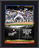 """Clayton Kershaw Los Angeles Dodgers 10.5"""" x 13"""" 300 Strikeouts in a Season Sublimated Plaque - MLB Player Plaques and Collages"""