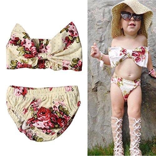 AMA(T (Yellow Polka Dot Bikini Costume Child)
