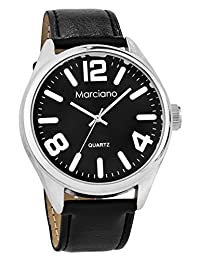 Marciano Men's | Large Numbered Classic Black Watch | MA1036
