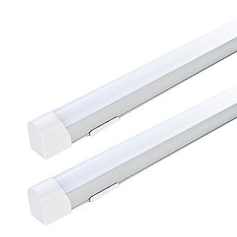 2x Led Wand Lampen Kuchen Unterbau Strahler Bade Zimmer Spiegel Alu