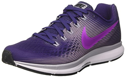 Nike Women's Air Zoom Pegasus 34 Running Shoes-Ink/Hyper Violet-6.5