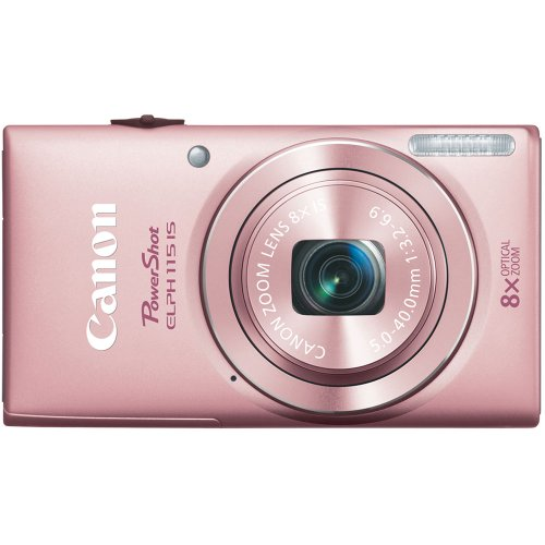 Canon PowerShot ELPH 115 16MP Digital Camera (Pink) (OLD MODEL)