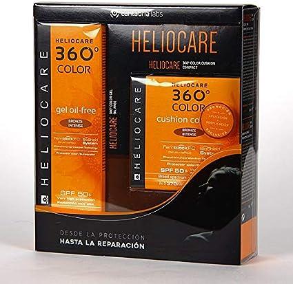 PACK HELIO 360 GEL OIL FREE+COMPAC BRONZE