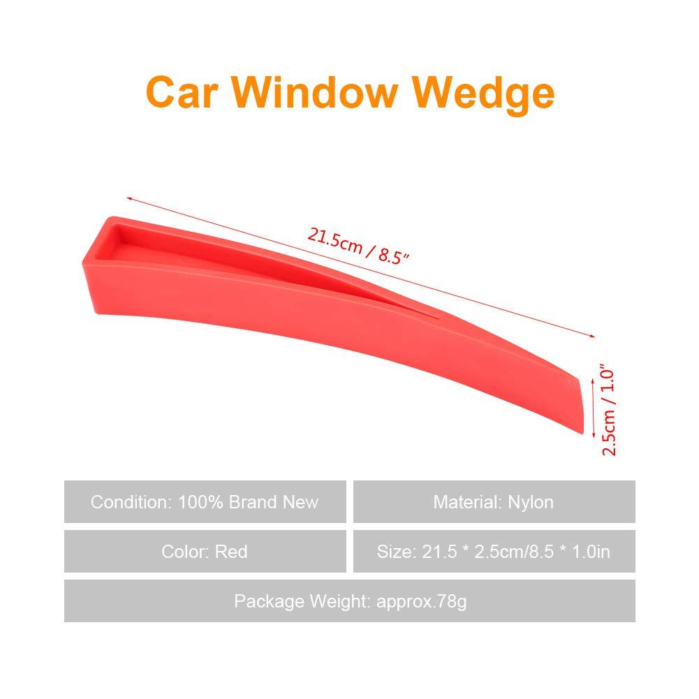 Keenso Red Window Wedge, Plastic Car Door Wedge Car Window Wedge Repair Paintless Dent Repair Tools Unlock Lockout Kit (5pcs) by Keenso (Image #5)