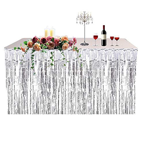 Table Skirt Party Decoration Fringed Table Skirt Celebration Thickened Table Skirt Curtain Holiday ()