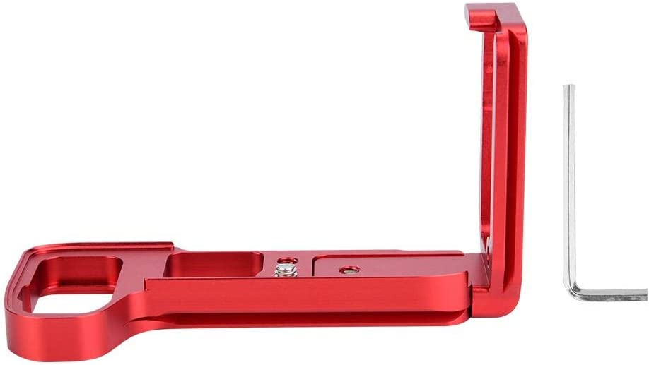 red Xinwoer Professional Durable Quick Release L-Shaped Camera Bracket Vertical Grip