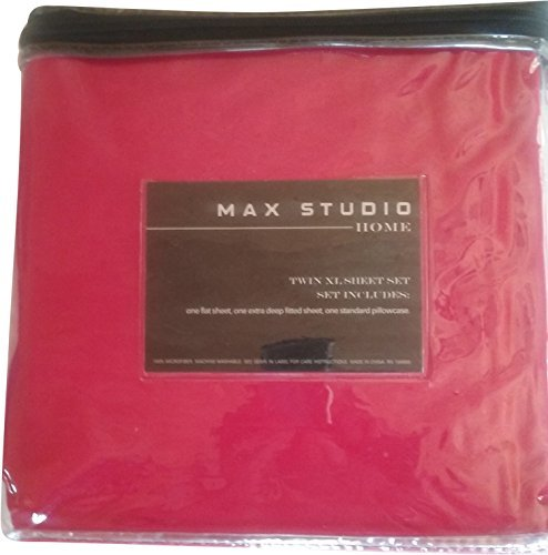 Max Studio XL Twin Sheet Set 100% Microfiber Red