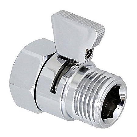 Homeself Brass Shower Head Flow Contol and Shut OFF Stop Switch Valve for Shower Head, Hand Shower, or Bidet Sprayer etc,Univ