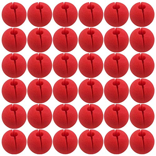 LONG7INES 36Pcs Red Foam Nose Circus Clown Nose,