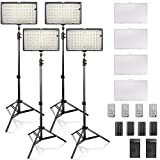SAMTIAN Dimmable 240 LED Photo Light Kit, 3200/5600K CRI 96+ LED Panel Light, 78 Inches Light Stand for Studio Photography and Youtube Video Shooting