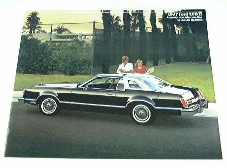 1977 77 Ford LTD II BROCHURE Hardtop Brougham S 2dr 4dr