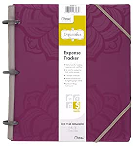 "Mead Organizher Expense Tracker, Budget Planner, Bill Organizer, 8-1/2"" x 11"", Poly, Purple (64047)"