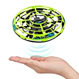 Epoch Air UFO Mini Drone, Kids Toys Hand Controlled Helicopter RC Quadcopter Infrared Induction Remote Control Flying Toys Aircraft Games Presents for Boys Girls Adults Indoor Outdoor Ball Toys Green