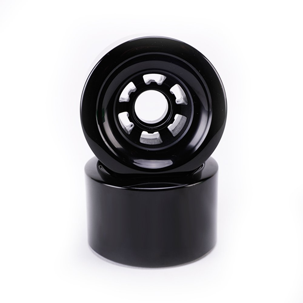 Buffalo電動スケートボードRubber Wheels – PU 83 mmのe2電動スケートボードLongboardブラック( Pack of 2 )   B079HS39XV