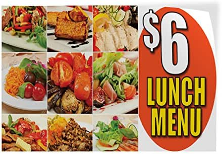 Decal Sticker Multiple Sizes $ 6 Lunch Menu Restaurant & Food Tasty Outdoor Store Sign White - 72inx48in, Set of 10