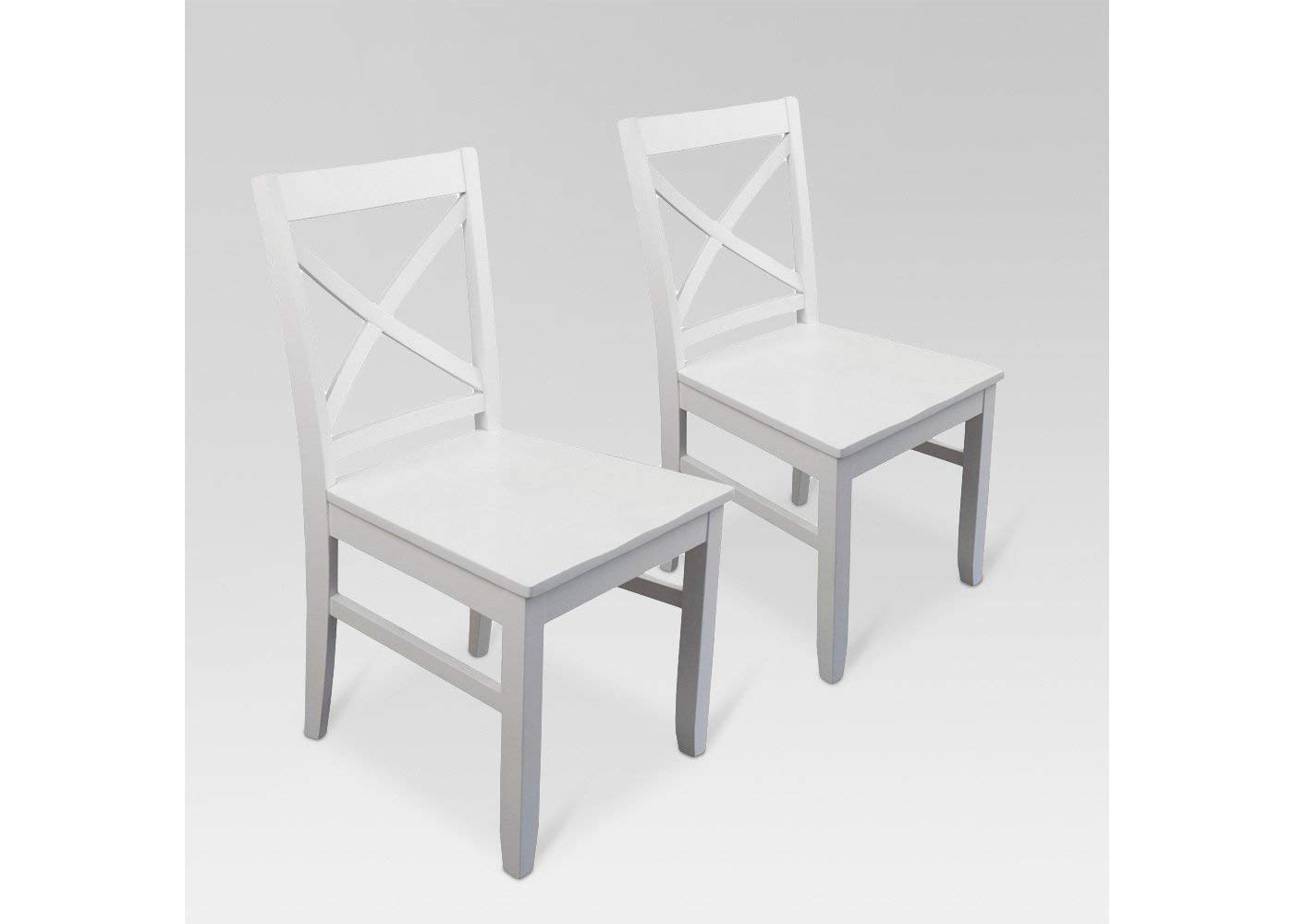 Fine Amazon Com Carey Dining Chair White Set Of 2 Pabps2019 Chair Design Images Pabps2019Com