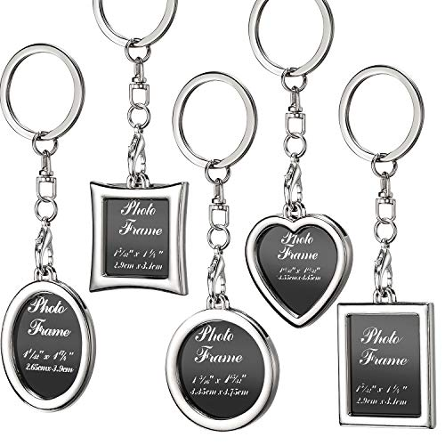 - Tatuo 10 Pieces Photo Frame Keychain Metal Frame Keychain, Picture Frame Keyring, Keychain with Locket Photo Frame for Birthday, Valentine's Day, Wedding Gifts