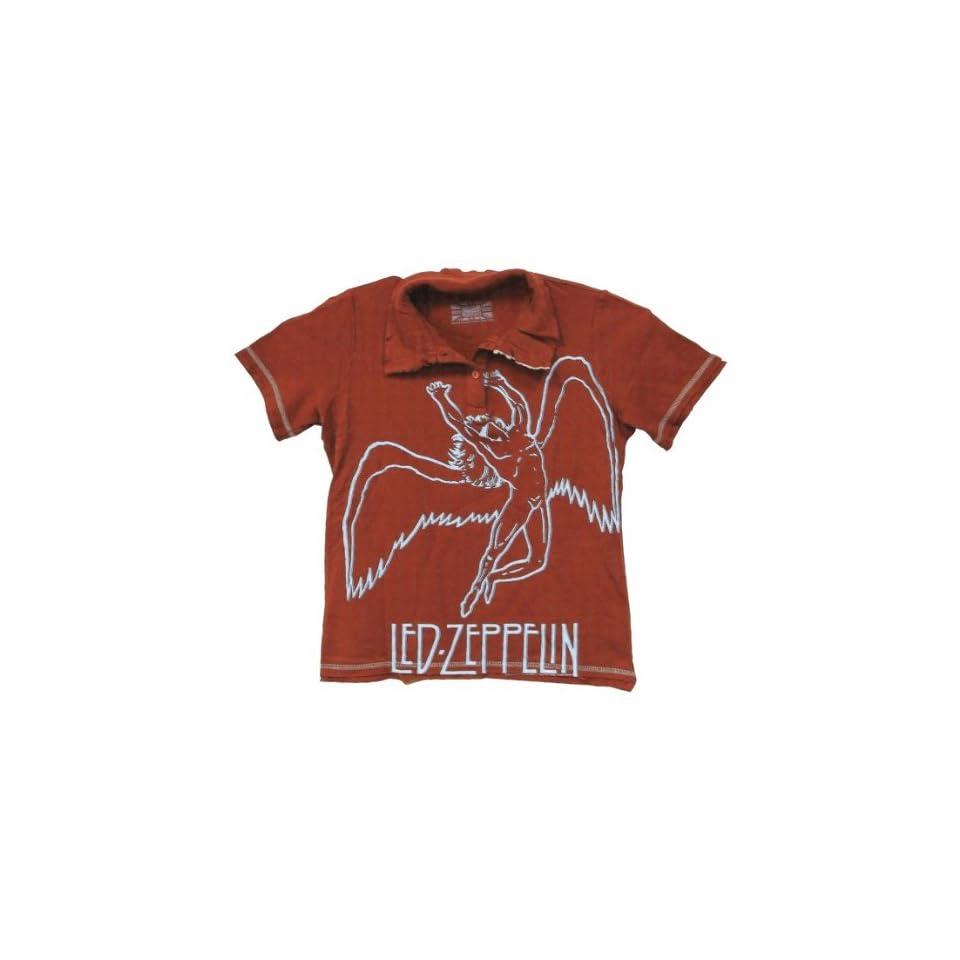 Led Zeppelin   Large Swan Juniors Polo Shirt