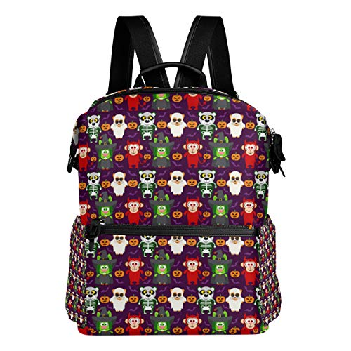 Travel Laptop Backpack Pandas Halloween Funny Durable College