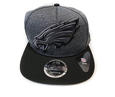 New Era Philadelphia Eagles 9Fifty Gray Grand Logo Adjustable Snapback Hat NFL