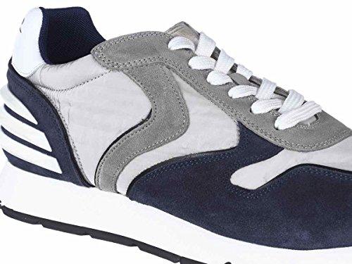 Voile Blanche Scarpe Sneaker Uomo LIAM FREE POWER VELOUR-NYLON 9103 INDACO-GHIACCIO Primavera Estate 2018 BLEU-GHIACCIO