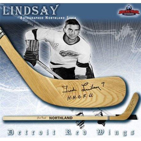 - Ted Lindsay Autographed Hockey Stick - Detrot Northland Model - Autographed NHL Sticks