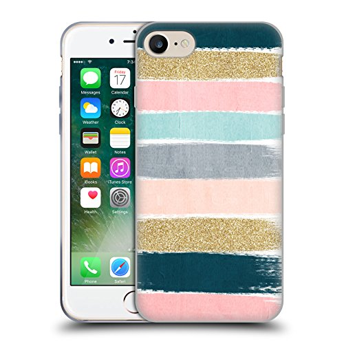 Official Charlotte Winter Zara Brush Stripes Soft Gel Case for Apple iPhone 7 / iPhone 8