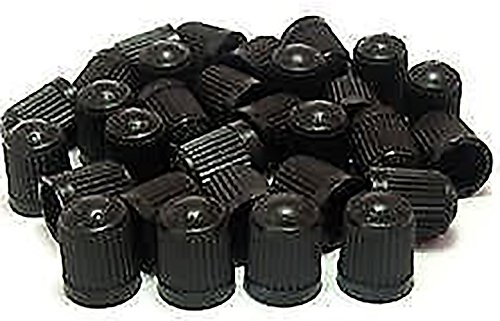 """(500 Count) Cool and Custom """"Classic Simple with Easy Grip Texture"""" Tire Wheel Rim Air Valve Stem Dust Cap Seal Made of Hardened Rubber {Sleek Dodge Black Color - Hard Plastic Internal Threads for Easy Application - Rust Proof - Fits For Most Cars, Tr by mySimple Products"""