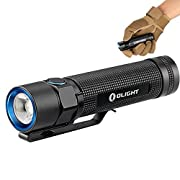 #LightningDeal 70% claimed: Olight® S2 Baton Cree XM-L2 950 Lumens LED Flashlight Runs on 2 x CR123A Batteries or 1 x 18650 Battery (Battery not Included) Variable-Output Side-switch EDC Torch for Outdoors Camping Hiking, Black