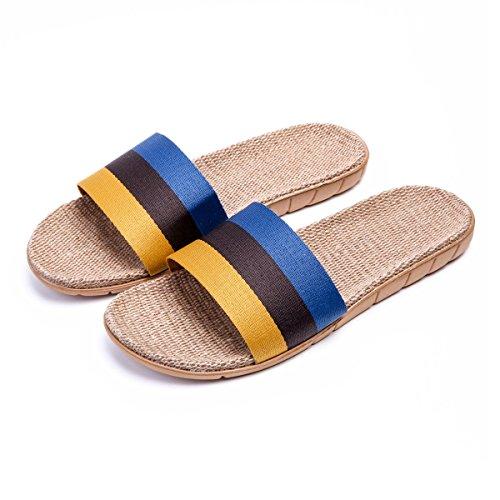 Pantofole Da Casa Traspirante Leggera Bestfur Uomo Blu