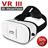 Motoraux 3rd Vr Virtual Reality Headset Google Version 3D Glasses DIY Video Movie Game Glasses for iPhone 6 iPhone6 Plus Samsung LG Sony HTC Xiaomi ZTE