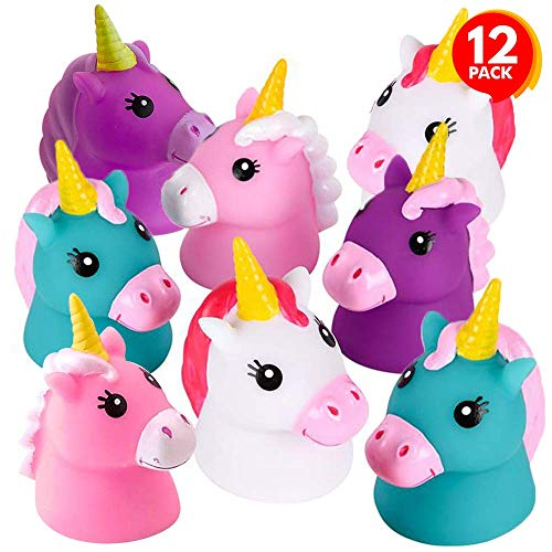 ArtCreativity Unicorn Water Squirt Toys for Kids, Pack of 12, Unicorn Birthday Party Favors, Bath Tub and Pool Toys for…