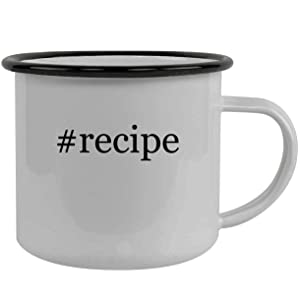 #recipe - Stainless Steel Hashtag 12oz Camping Mug, Black