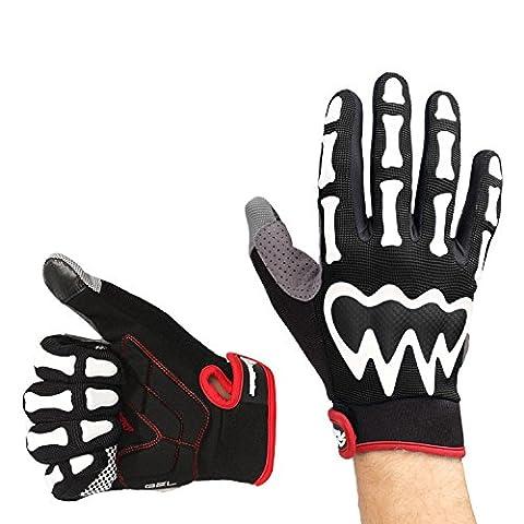 OutdoorMaster Bike Gloves - Half Finger/Full Finger Bicycle Gloves for Men & Women (Full Finger, Black, XXL)