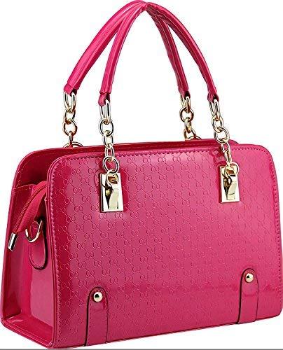Ladies Patent Purse, PU Leather Unique Handbag, Crossbody Bag Shoulder Bag, Ladies Pocketbook