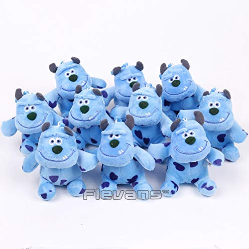 GrandToyZone DOLL SERIES - 10pcs/Set 10cm (3.9 inch) / Sullivan Mini Plush Pendants Soft Stuffed Toys / Cartoon Movie Monsters