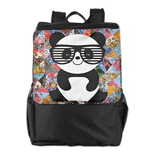 ZHONGRANINC Nerd Panda With Moustache And Glasses Personality Outdoor Men And Women Travel Backpack Painting The Picture On The - With Pictures Nerds Glasses Of